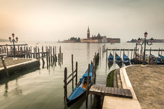 Madrugada Venecia Italia Fotos de archivo