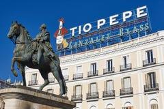 Madryt centrum miasta śródmieście Puerta Del Zol Hiszpania zdjęcie stock