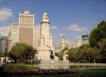 Madryt Espa plaza de Zdjęcia Stock
