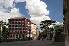 Madryt Hiszpania dom na kwadracie fotografia royalty free