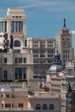 Madryt, Hiszpania, Historyczni budynki w centrum miasto/ Obrazy Stock