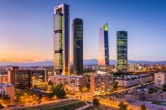 Madryt, Hiszpania linia horyzontu Obrazy Royalty Free