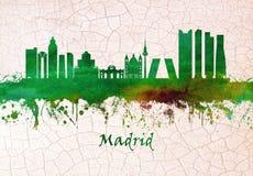 Madryt Hiszpania linia horyzontu ilustracja wektor