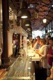 MADRYT HISZPANIA, MAJ, - 28, 2014 Mercado San Miguel rynek, sławny jedzenie rynek w centre Madryt Zdjęcia Stock