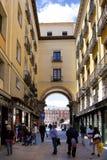 MADRYT HISZPANIA, MAJ, - 28, 2014: Stary centrum miasta Obraz Royalty Free