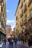 MADRYT HISZPANIA, MAJ, - 28, 2014: Stary centrum miasta Obraz Stock