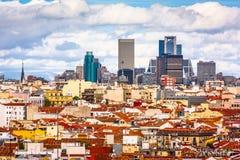 Madryt, Hiszpania pejzaż miejski zdjęcie royalty free
