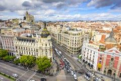 Madryt, Hiszpania pejzaż miejski Fotografia Stock