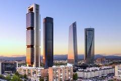 Madryt, Hiszpania Pieniężny okręg Obrazy Royalty Free