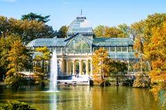 Madryt, Krystaliczny pałac w Retiro parku Fotografia Stock