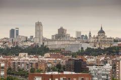 Madryt linia horyzontu zdjęcie royalty free