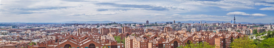 Madryt linii horyzontu panorama Fotografia Stock