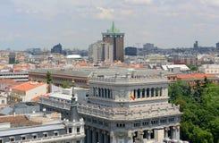 Madryt miasta linia horyzontu, Hiszpania Fotografia Stock
