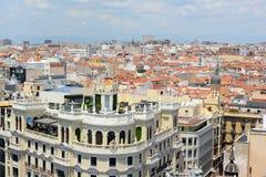 Madryt miasta linia horyzontu, Hiszpania Fotografia Royalty Free