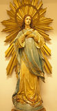 Madryt - Niepokalany poczęcie od kościelny San Idefonso zdjęcia stock