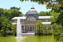 Madryt Palacio De w Retiro Parku Cristal Obraz Royalty Free