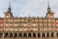 Madryt, placu Mayor, fasada Casa De Los angeles Panaderia Fotografia Royalty Free