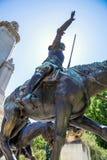 2017 01 06, Madryt, Rosja Zabytek Miguel De Cervantes w Madryt, Hiszpania Widoki Madryt zdjęcia stock