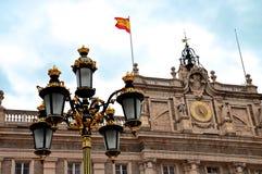 Madryt, Royal Palace -. Palacio De Oriente, Madryt punkt zwrotny, Spai Obrazy Royalty Free