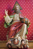 Madryt - statua bóg twórca w gothic kościelnym San Jeronimo el realu obraz stock