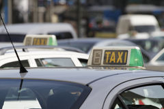 Madryt Taxicabs obrazy royalty free