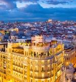 Madryt widok z lotu ptaka, Hiszpania Obrazy Royalty Free