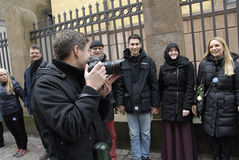 MADS NISSEN_PHOTOJOURNALIST AT SYNAGOGUE Royalty Free Stock Image