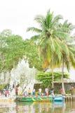 Madu甘加, Balapitiya,几的斯里兰卡- 2015年12月- pilg 免版税图库摄影