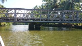 Madu ganga & x28; madu river& x29;-从小船的看法 免版税库存照片