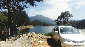 Madupetty水坝,喀拉拉印度 免版税库存照片