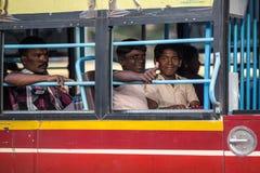 MADURAI, 15 INDIA-FEBRUARI: Indische bus 15, 2013 in Madurai, Indi Stock Afbeelding