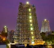 MADURAI, INDIA Meenakshi świątynia obraz stock
