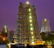 MADURAI, INDIA Meenakshi temple Stock Image