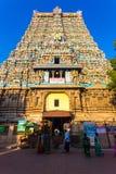 Madurai Meenakshi Amman Temple East Tower Gateway Stock Photo
