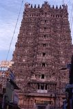 Madurai Meenakshi Temple. Meenakshi Amman Temple is a historic Hindu temple located on the southern bank of the Vaigai River in the temple city of Madurai, Tamil Stock Photo