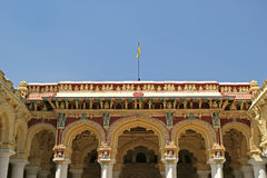 Madurai, South India. Thirumalai Nayakkar Mahal palace Stock Photos