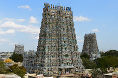 Madurai temple. Meenakshi Sundareswarar Temple in Madurai. Tamil Nadu, India. It is a twin temple, one of which is dedicated to Meenakshi, and the other to Lord royalty free stock photography