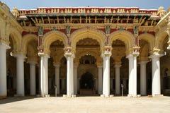 Madurai, Zuid-India Het paleis van Thirumalainayakkar Mahal stock foto