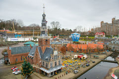 Madurodam - Miniature city and tourist attraction in Hague Royalty Free Stock Photo
