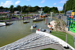 Madurodam miniature park with famous Dutch landmarks from Netherlands. Stock Image