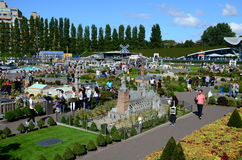 Madurodam miniature park with famous Dutch landmarks from Netherlands. Stock Photo