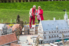 Madurodam, miniature park and tourist attraction in Hague, Netherlands. Hague, Netherlands - April 8, 2016: Madurodam, Holland miniature park and tourist stock photo
