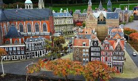Madurodam,miniature park and tourist attraction in The Hague,Netherlands. Hague, Netherlands-October 2015, Madurodam, miniature park and tourist attraction royalty free stock images