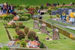 Madurodam windmills Royalty Free Stock Photos