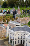Maduromam. THE HAGUE, THE NETHERLANDS - OCTOBER 23, 2013: Madurodam, miniature city  with architecture and typical Dutch scenes on a scale 1:25 on October 23 Royalty Free Stock Photography