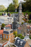 Maduromam. THE HAGUE, THE NETHERLANDS - OCTOBER 23, 2013: Madurodam, miniature city  with architecture and typical Dutch scenes on a scale 1:25 on October 23 Royalty Free Stock Photo