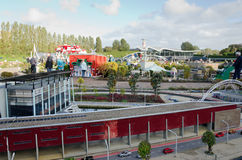 Maduromam. THE HAGUE, THE NETHERLANDS - OCTOBER 23, 2013: Madurodam, miniature city  with architecture and typical Dutch scenes on a scale 1:25 on October 23 Stock Photos
