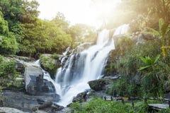 Mae巴生瀑布在土井inthanon, Chiangmai泰国 图库摄影