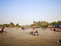 MAE AI, TAILANDIA del día de Songkran imagen de archivo