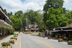 Mae Fah Luang flower garden. Chiang Rai, Thailand - June 24, 2017: Mae Fah Luang flower garden is the famous destination in Chiang Rai. It located on the high stock photography